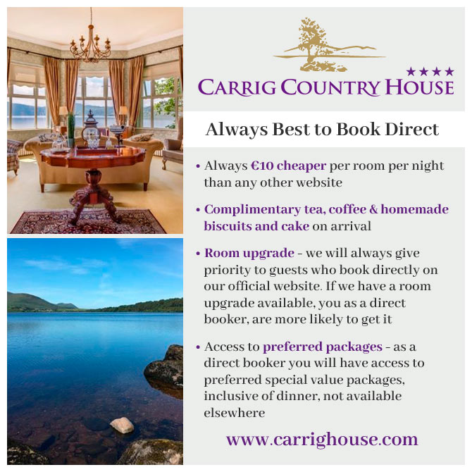 Book direct with Carrig House