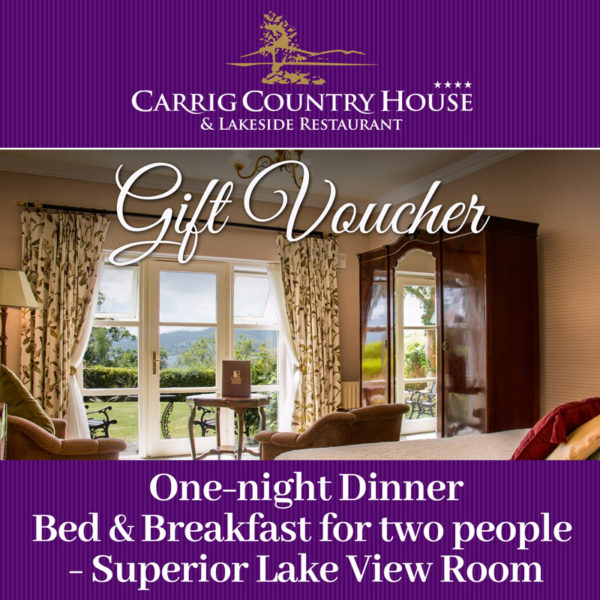 Carrig House Superior Lakeview room gift voucher