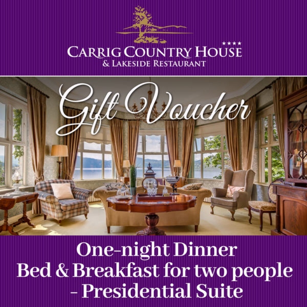 Carrig House Presidential Suite gift voucher
