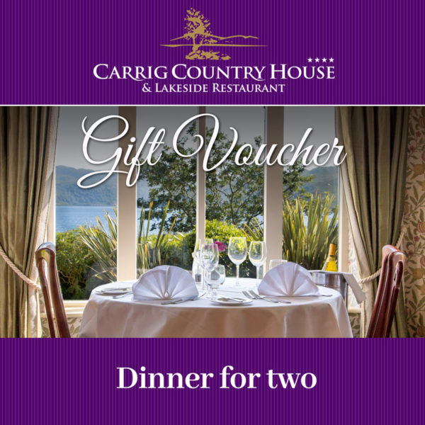 Carrig House Dinner for two gift voucher