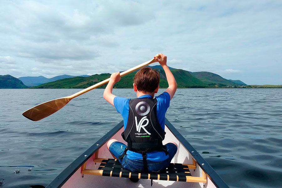 Canoeing Caragh Lake